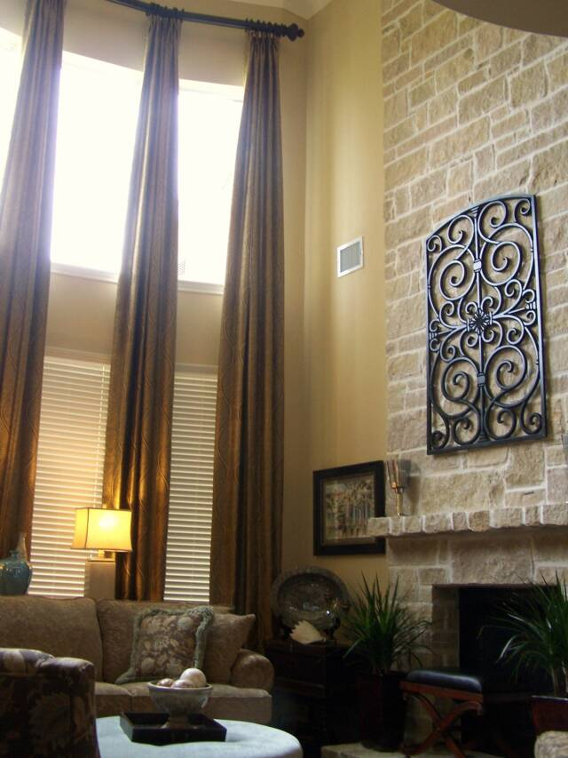 1000 ideas about tall window treatments on pinterest High ceiling curtain ideas